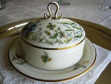 K & A KRAUTHEIM CHINA..COVERED BUTTER DISH..MEADOW FLOWERS..SELB BAVARIA GERMANY