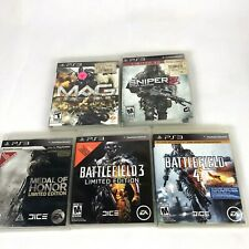 Blow Stuff Up Bundle~ PS3 Sniper 2, Mag, Battlefield 3 + 4, Medal Of Honor
