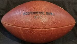 1977 Independence Bowl 2nd Year GAME USED R5 Rawlings FIRM Ball vtg RARE 70s