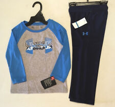 NWT Under Armour Boys Youth Tee Shirt & Pants 2 pc Set Toddler Sz 24M Sports New