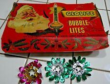Original Box of Clolite Bubble-Lites Christmas Xmas Lights 1940s