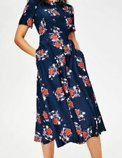 BODEN  NWT Ruth Midi Dress - Navy Floral - UK 10 R - W0121
