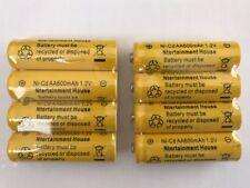 8-pcs1.2v AA (600mAh) Ni-Cd Rechargeable Battery For Solar Light