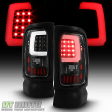 Black 1994-2001 Dodge Ram 1500 2500 3500 LED Tube Tail Lights Lamps Left+Right