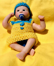 """OOAK POLYMER CLAY 6"""" BABY GIRL ART DOLL HAND SCULPTED BY CORRINNE ANNE"""