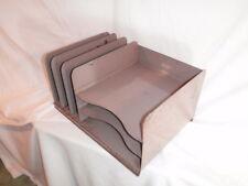 VTG Tan Industrial Metal Steel Office Desk File Letter Tray Organizer VertiFlex