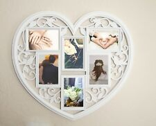 Collage Picture Frame Holds 6 Images Wall Hanging Multiple Family Photos Heart
