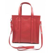 New Balenciaga Bazar Shopper S Small Leather Tote Bag Handbag Red 443096-DL