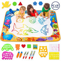 Aqua Magic Mat Kids Painting Writing Doodle Board Toy Color Drawing Bring Magic