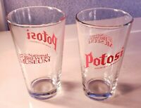 2 Vintage Potosi Brewing Co.Beer Pint Glass Red National Brewery Museum Loot Set