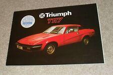 Triumph TR7 20 Page Sales Brochure 1977
