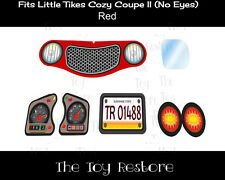 New Replacement Decals Stickers for Little Tikes Tykes Cozy Coupe II Ride On Car