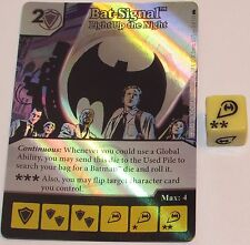 Foil BAT-SIGNAL: LIGHT UP THE NIGHT 3/124 Batman Dice Masters DC