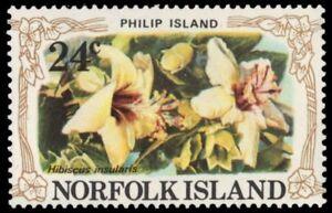 """NORFOLK ISLAND 288a (SG278) - Philip Island Hibiscus """"Hibiscus insularis"""" (pa805"""