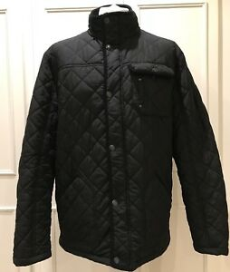 MENS EXTRA LARGE QUILTED BLACK JACKET BY GEORGE