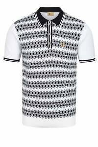 GABICCI Gable Knitted Polo Shirt White