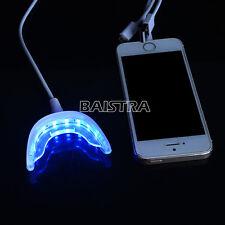 Dental Teeth Whitening Strips Kit Instrument Light+ Shade Guide Whiten + Gel