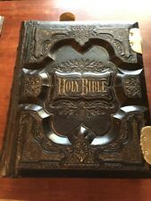 ANTIQUE HOLY FAMILY KING JAMES BIBLE CLASPS BLANK FAMILY PAGES