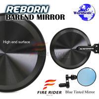 Black FRW Reborn CNC Folding Bar End Mirrors For Yamaha Motorcycles