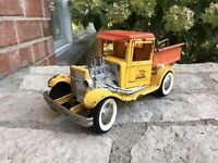 ANTIQUE OLD VINTAGE BUDDY L FORD MODEL A PICKUP Yellow HOT ROD RAT DUMP BED