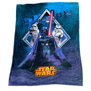 Disney Star Wars Darth Vador Troopers Over Sized Plush Soft Throw Blanket 78x59""