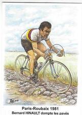 cyclisme, carte postale HINAULT, Paris/Roubaix 1981