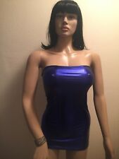 Sexy Women Night Evening Party Stripper Cocktail Clubwear Mini Dress Small Blue