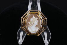 Brooch Fashion 7379 Antique Cameo Gold Plated