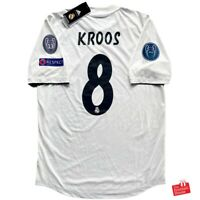 Adidas Real Madrid 2018/19 Climachill Player Issue CL Home Jersey - Kroos 8.
