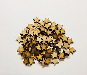 Wooden Mdf 100 Star Shape Size 15mm x 15mm Blank Embellishment Craft Decoration
