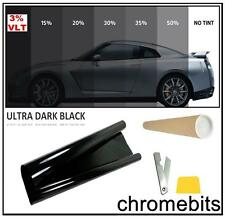 TINTING WINDOW TINT FILM ULTRA SUPER LIMO BLACK 3% 50 X 300CM IN TUBE