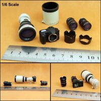 "Customize 1/6 Scale SLR Digital Camera with 3 Lens Set Model For 12"" Figure Toys"