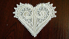 Large,White Guipure Lace,Applique,Trimmings,Wedding- Heart Motifs - 90mm