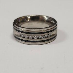 Titanium Diamond Mens Band Size 10.5 Comfort Fit Jewelry TNT46