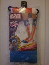 NIP Marvel Comics Captain America ~ American Dream Knee Socks Adult O/S Cosplay
