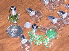 5pc Wholesale Lot Cube Glass bottle Vial charm small tiny beads Huge findings