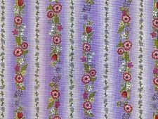 """3 yards_PURPLE-RED-""""IN THE BEGINNING""""-100% Cotton-NEW OOP_RARE"""