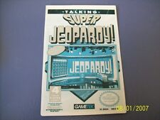 SUPER JEOPARDY  NES 8 Bit Nintendo Vidpro Card