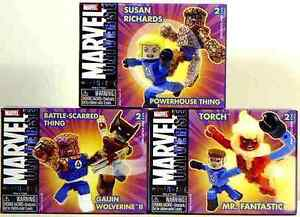 miniMates Set of 3 Series 8 FF4 Wolverine Thing Art Asylum Marvel Amricons