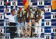Tom KRISTENSEN SIGNED Le Mans 24hr Podium AUDI AUTOGRAPH 12x8 Photo AFTAL COA