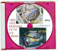 """1965 1966 1967 -73 Ford Mustang L6 to 302 351 V8 Engine Swap """"How to"""" Video  DVD"""