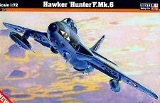 HAWKER HUNTER F MK 6 (RAF, BELGIAN & DUTCH AF MKGS) #D10  1/72 MISTERCRAFT