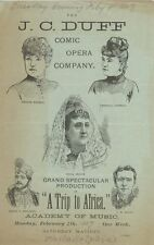*ACTRESS & BEAUTY LILLIAN RUSSELL: RARE ILLUSTRATED 1887 TRIP TO AFRICA PROGRAM*