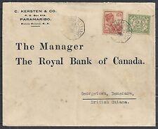 Surinam 1926 Bankcover CAYENNE A FORT DE FRANCE