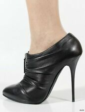 $795 new Giuseppe ZANOTTI black zip front booties ANKLE BOOTS heels shoes 40 10