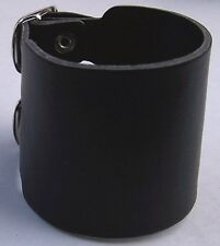 3 Row Black Buckles Bsb3F Leather Bracelet Cuff Eco Leather Wristband