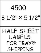 4500 HALF SHEET STICKY! LABELS FOR EBAY® SHIPPING