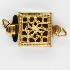 Square Box Filigree Necklace Bracelet Clasp 14kt Gold Filled 1 piece