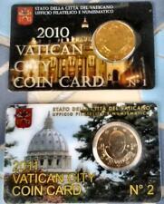 VATICANO - COIN CARD 2010 e 2011 n.1 e n. 2