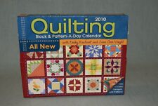 Quilting Block & Pattern-A-Day Calendar 2010 Debby Kratovil (missing 6 pages)